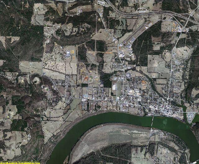 Franklin County, Arkansas aerial photography
