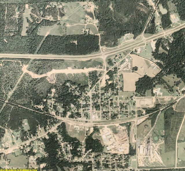 Franklin County, MS aerial photography detail