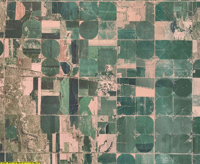 Franklin County, Nebraska aerial photography
