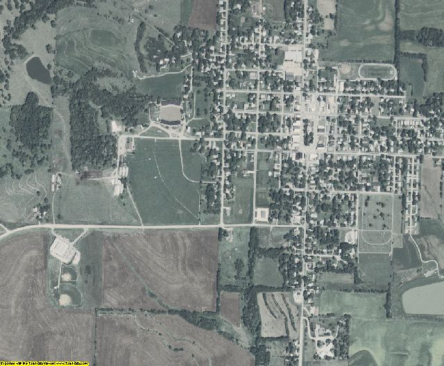 Fremont County, Iowa aerial photography