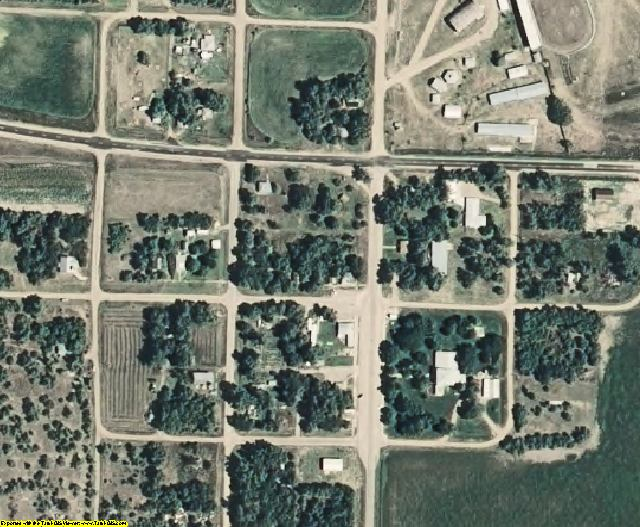 Frontier County, NE aerial photography detail