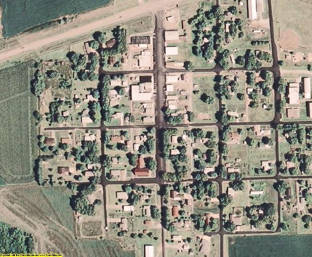 Gage County, NE aerial photography detail