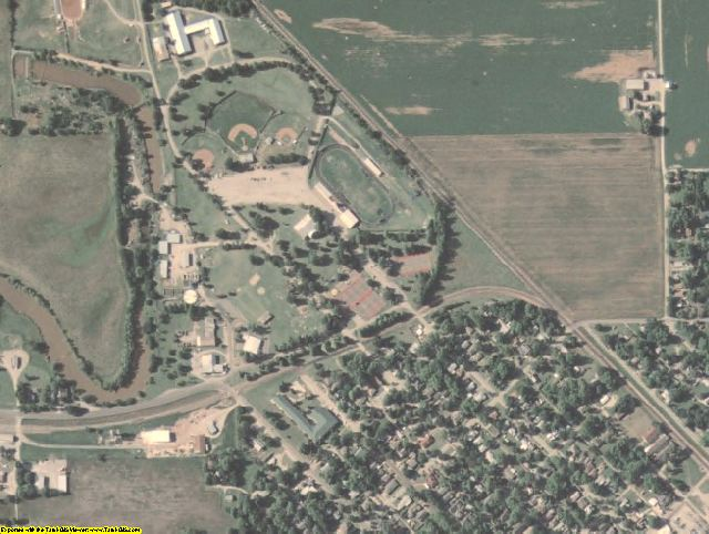Garvin County, OK aerial photography detail