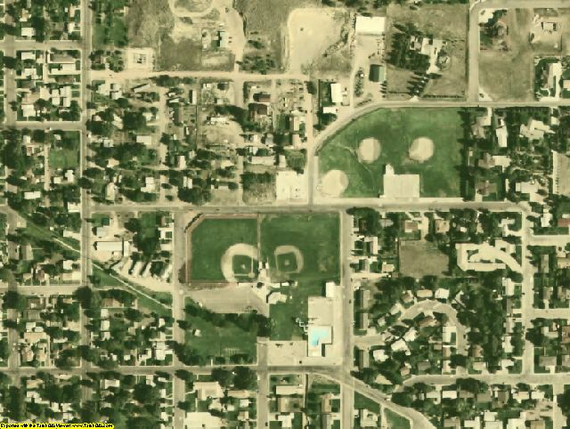 Goshen County, WY aerial photography detail