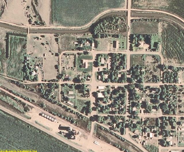 Gosper County, NE aerial photography detail