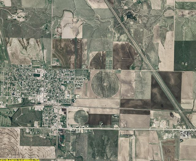 Gove County, Kansas aerial photography