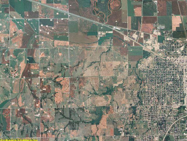 Grady County, Oklahoma aerial photography