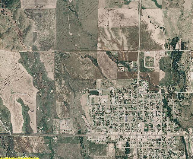 Graham County, Kansas aerial photography