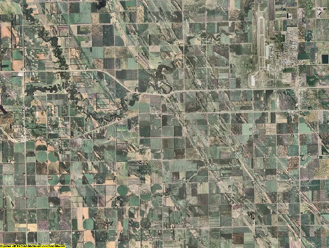 Grand Forks County, North Dakota aerial photography