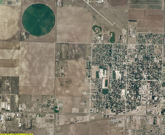 Grant County, Kansas aerial photography