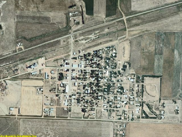 Grant County, ND aerial photography detail