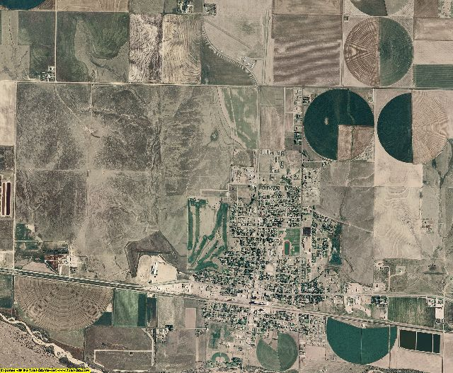 Gray County, Kansas aerial photography