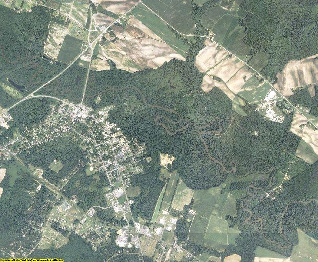Greene County, North Carolina aerial photography