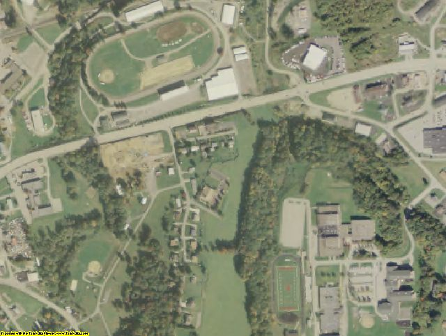 Greene County, PA aerial photography detail
