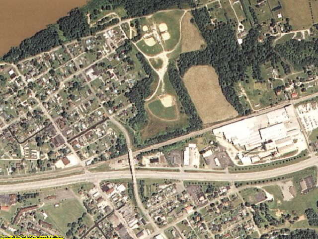 Greenup County, KY aerial photography detail