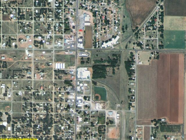 Greer County, OK aerial photography detail