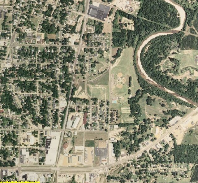 Grenada County, MS aerial photography detail