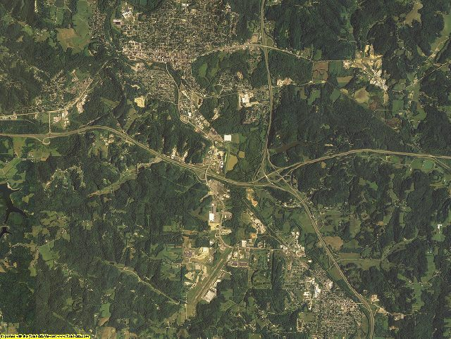 Guernsey County, Ohio aerial photography