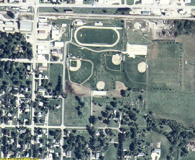 Guthrie County, IA aerial photography detail