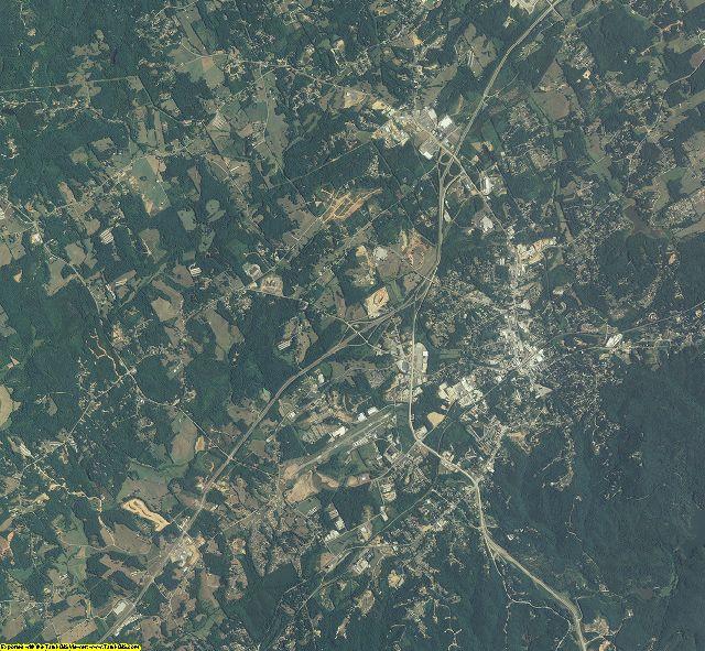 Habersham County, Georgia aerial photography