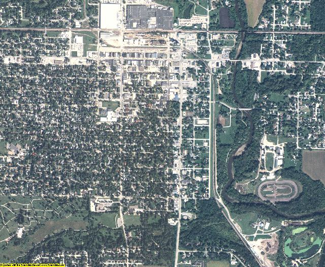 Hamilton County, Iowa aerial photography