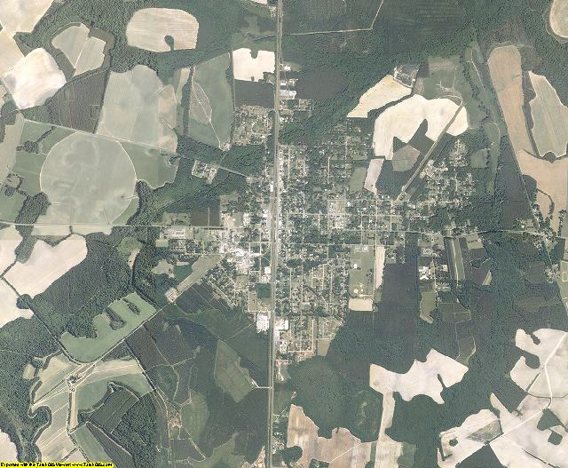 Hampton County, South Carolina aerial photography