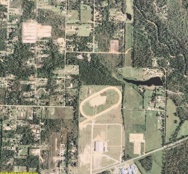 Hancock County, MS aerial photography detail