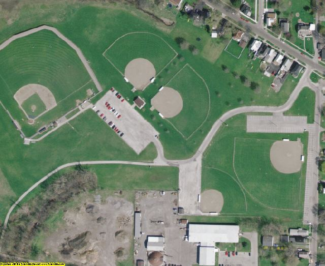 Hancock County, OH aerial photography detail