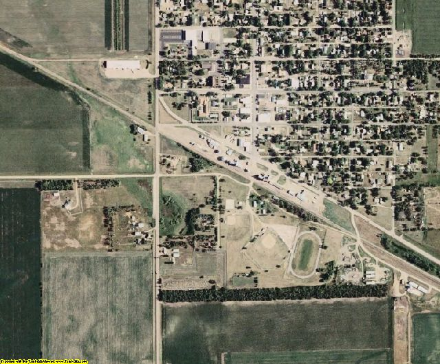 Hanson County, SD aerial photography detail