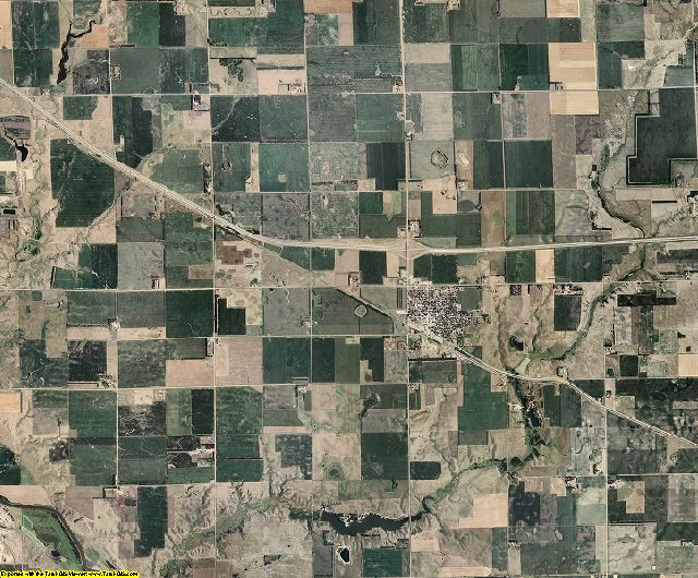Hanson County, South Dakota aerial photography