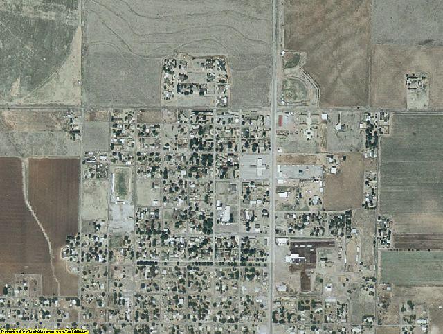 Harmon County, OK aerial photography detail