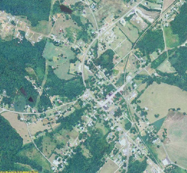 Hart County, GA aerial photography detail