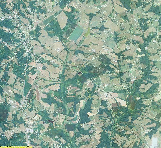 Hart County, Georgia aerial photography