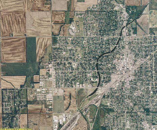 Harvey County, Kansas aerial photography