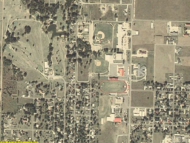 Haskell County, OK aerial photography detail