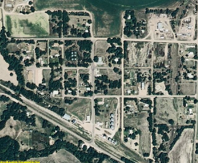 Hayes County, NE aerial photography detail