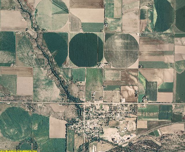 Hitchcock County, Nebraska aerial photography