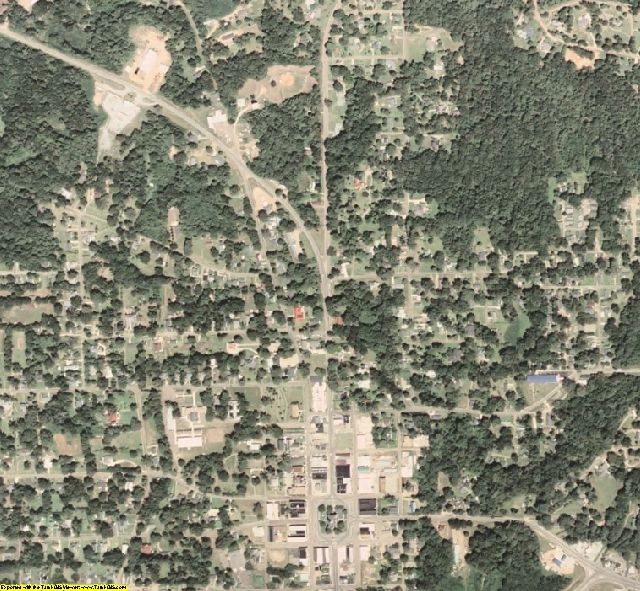Holmes County, MS aerial photography detail