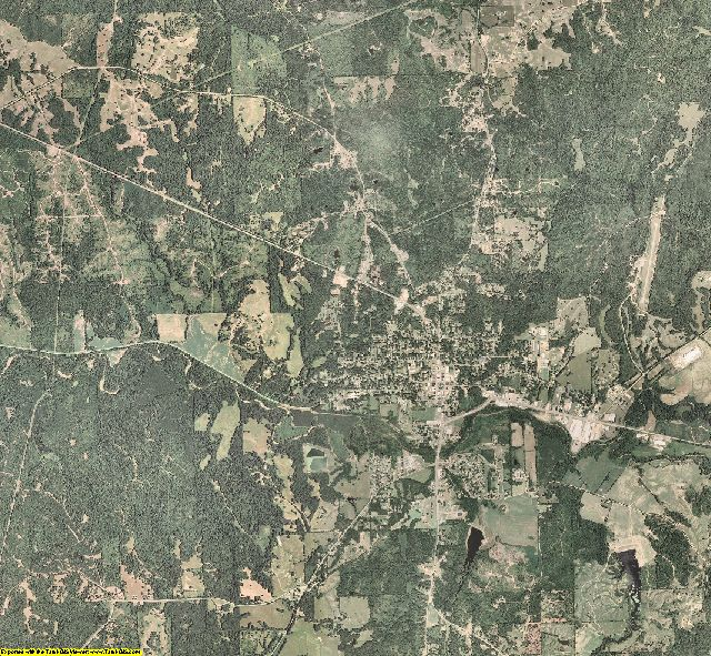 Holmes County, Mississippi aerial photography