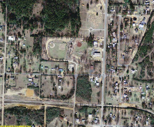 Howard County, AR aerial photography detail