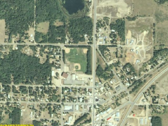 Hubbard County, MN aerial photography detail