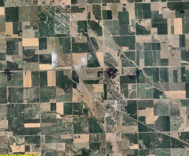 Hutchinson County, South Dakota aerial photography