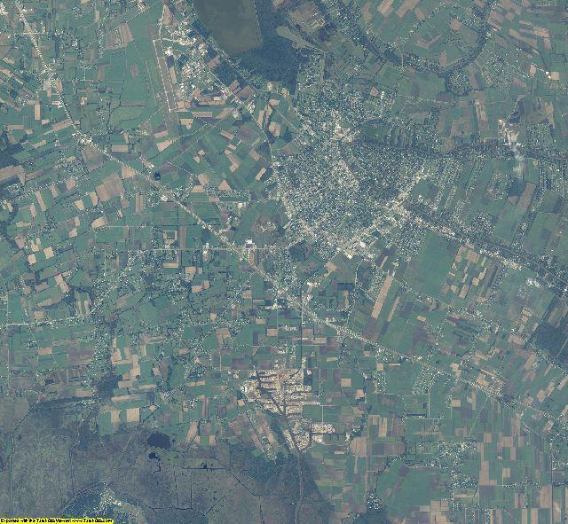 Iberia County, Louisiana aerial photography