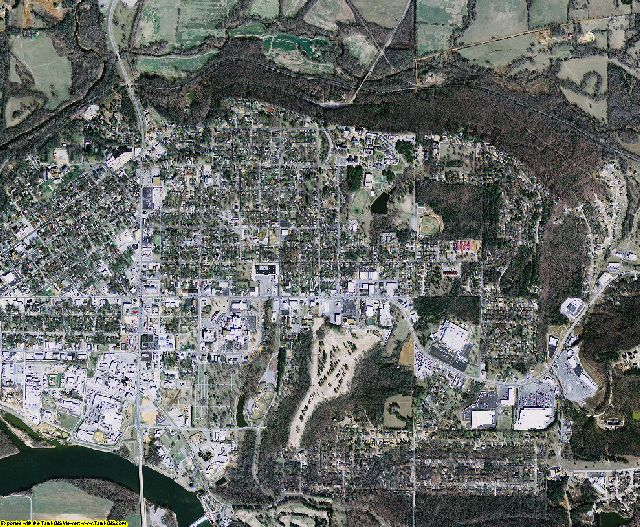 Independence County, Arkansas aerial photography