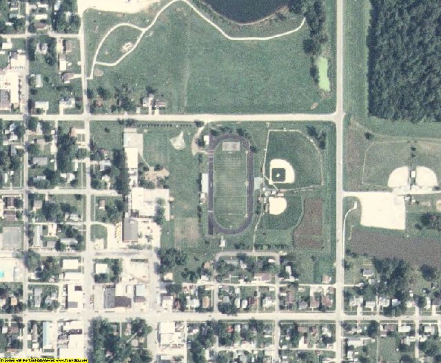 Iowa County, IA aerial photography detail