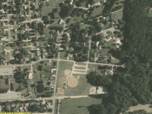 Isle of Wight County, VA aerial photography detail