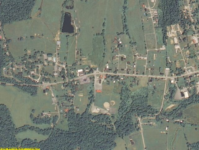 Jackson County, KY aerial photography detail