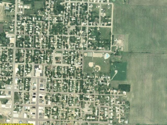 Jackson County, MN aerial photography detail