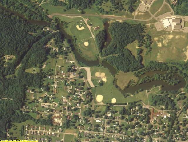 Jackson County, OH aerial photography detail