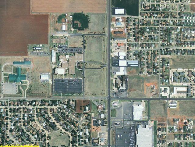 Jackson County, OK aerial photography detail